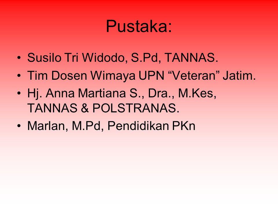 Pustaka: Susilo Tri Widodo, S.Pd, TANNAS.