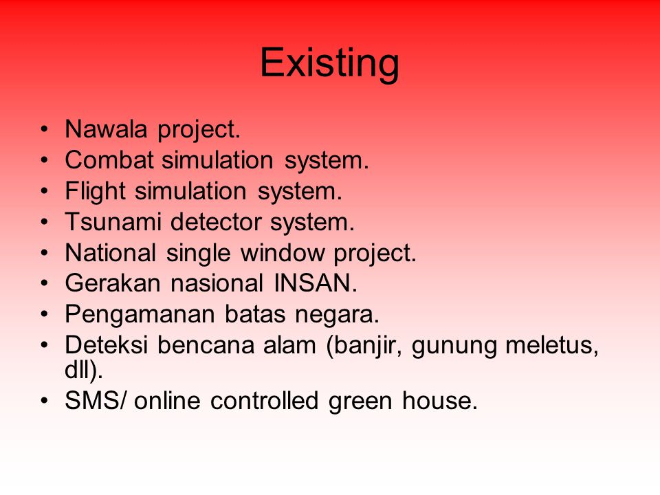 Existing Nawala project. Combat simulation system.