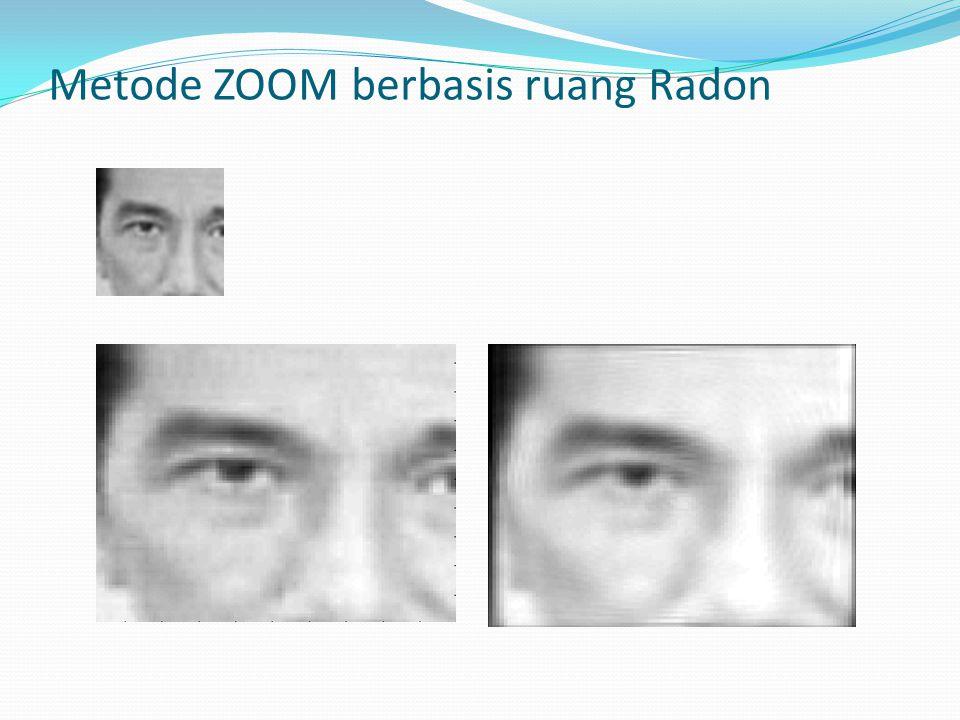 Metode ZOOM berbasis ruang Radon