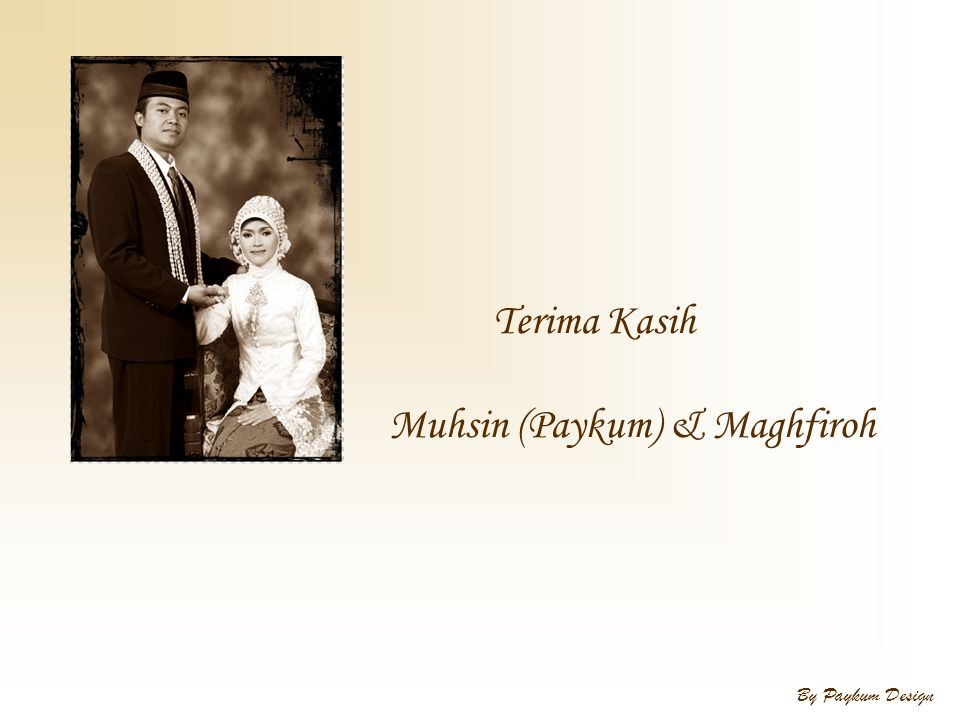Muhsin (Paykum) & Maghfiroh
