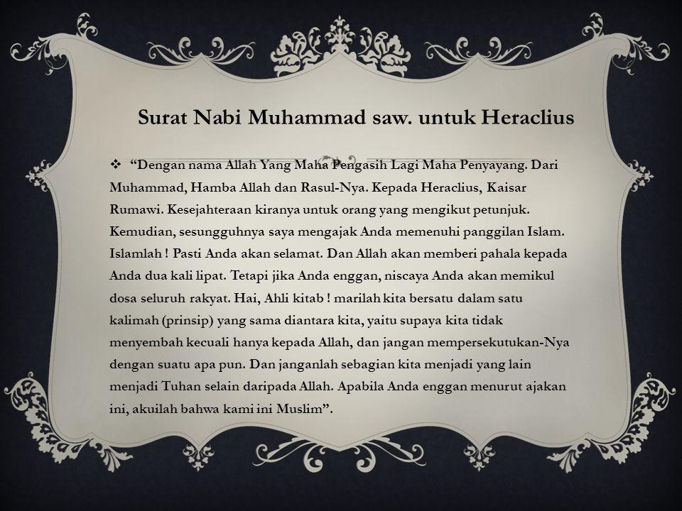 Surat Nabi Muhammad saw. untuk Heraclius