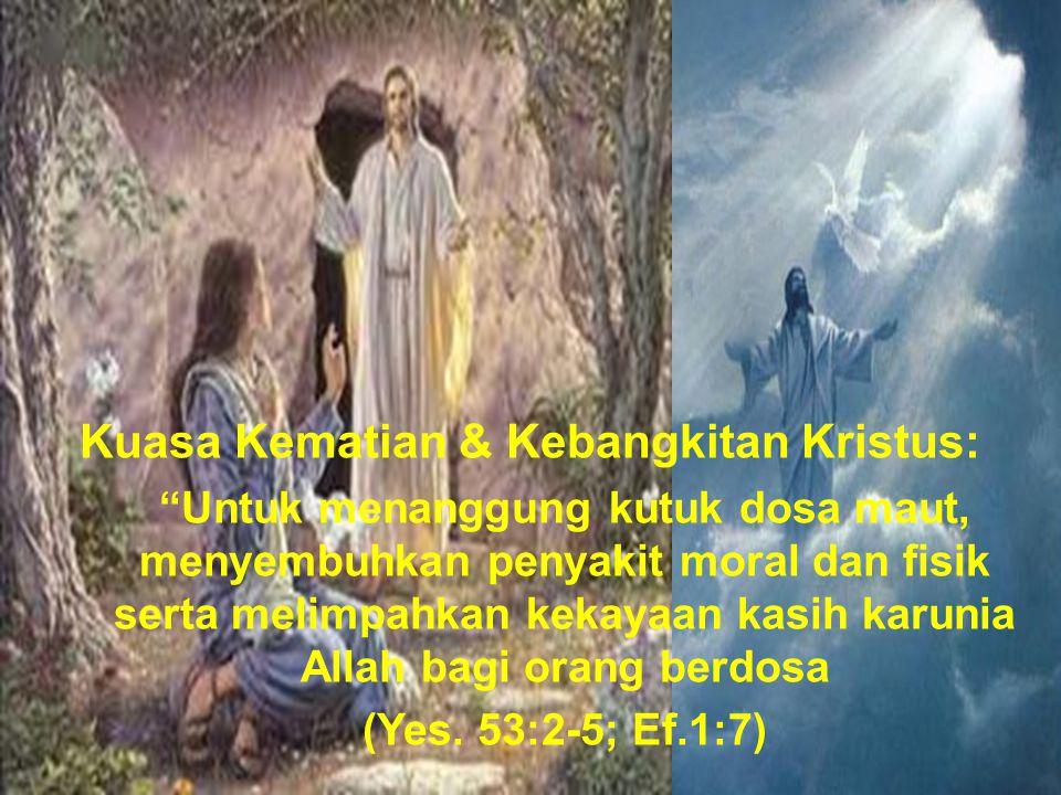 Kuasa Kematian & Kebangkitan Kristus: