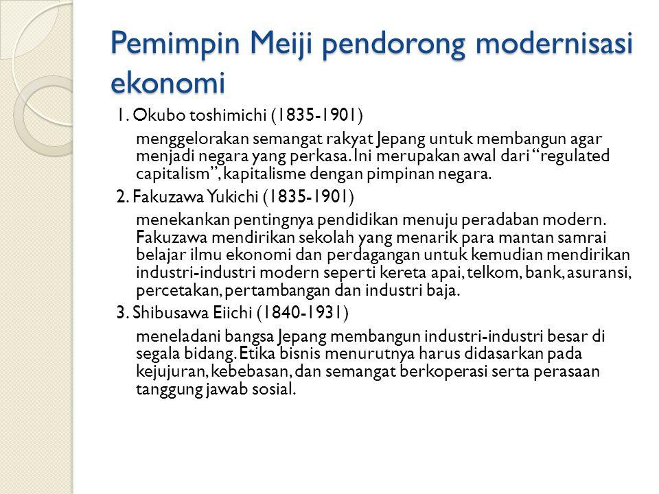 Pemimpin Meiji pendorong modernisasi ekonomi