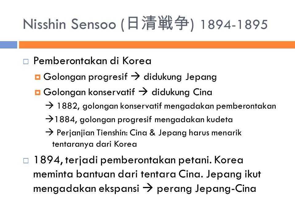 Nisshin Sensoo (日清戦争) 1894-1895