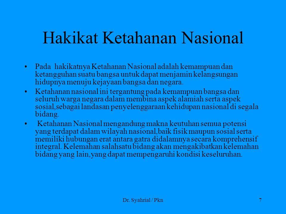 Hakikat Ketahanan Nasional