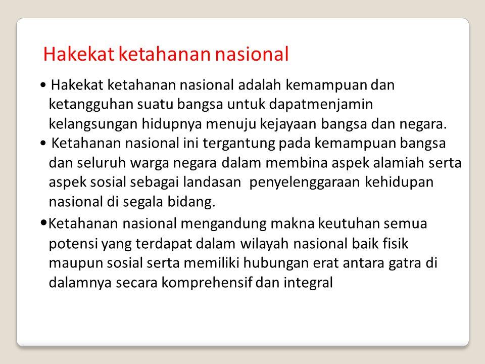 Hakekat ketahanan nasional