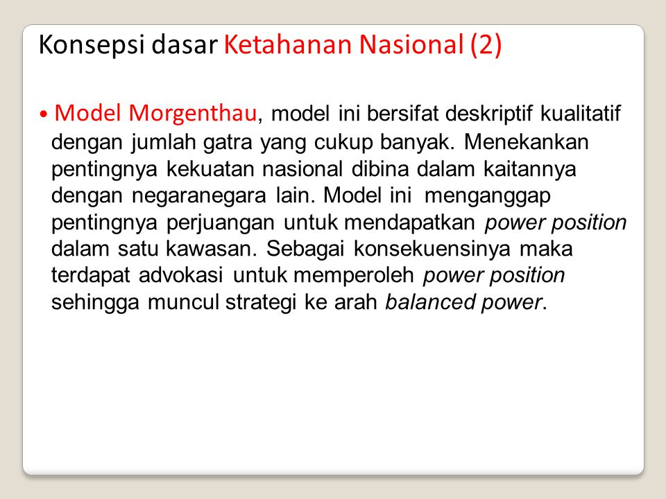 Konsepsi dasar Ketahanan Nasional (2)