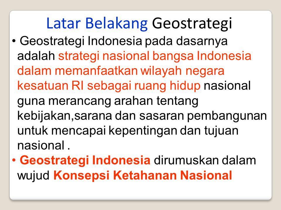 Latar Belakang Geostrategi