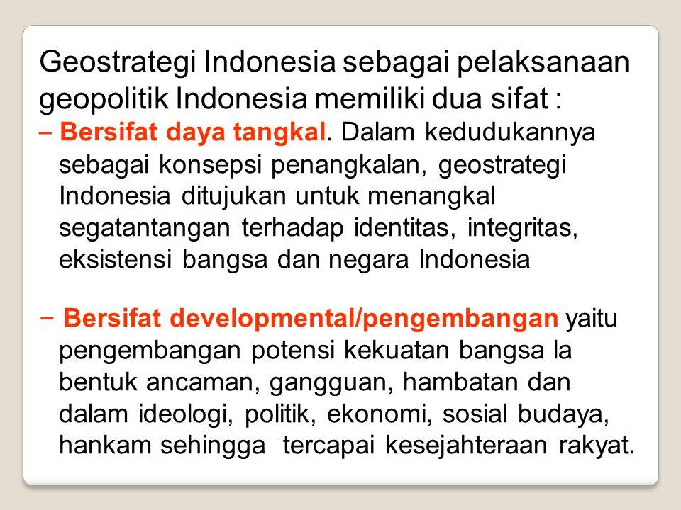 Geostrategi Indonesia sebagai pelaksanaan