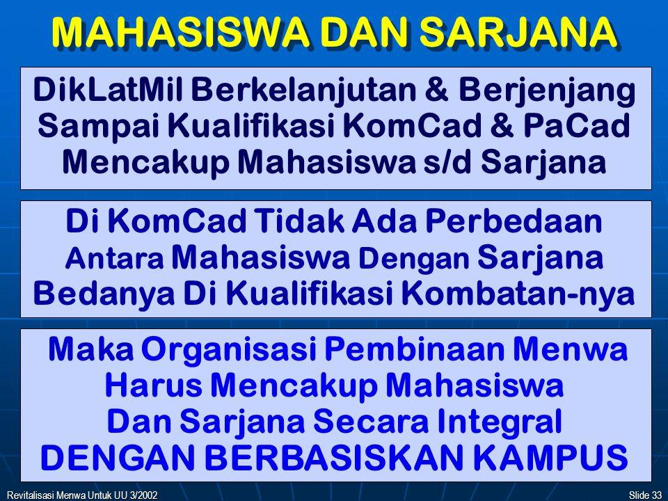 MAHASISWA DAN SARJANA DENGAN BERBASISKAN KAMPUS