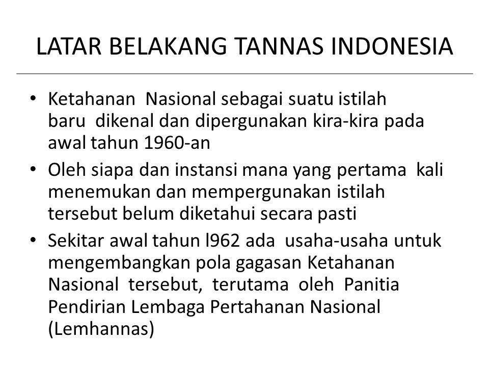 LATAR BELAKANG TANNAS INDONESIA