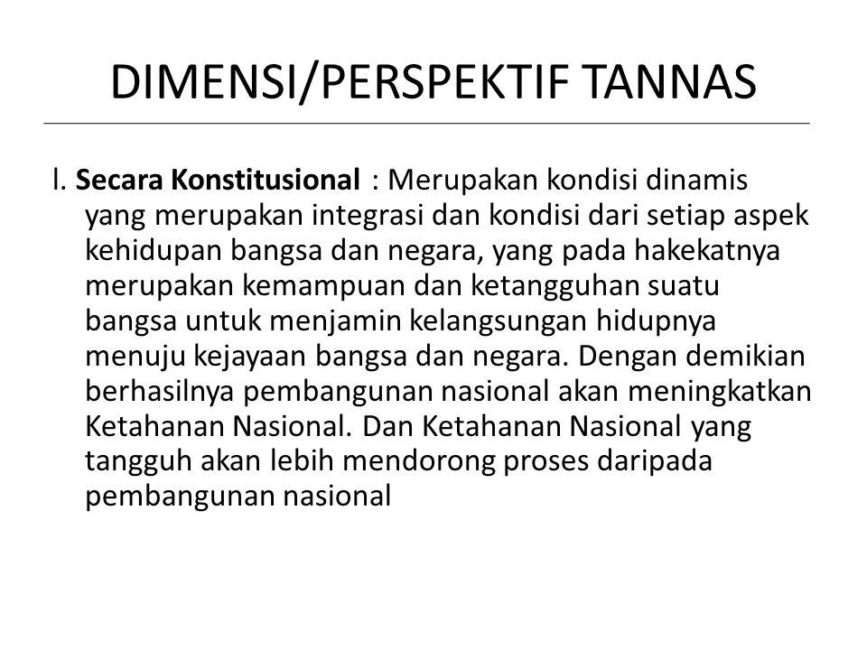 DIMENSI/PERSPEKTIF TANNAS