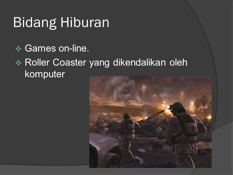 Bidang Hiburan Games on-line.