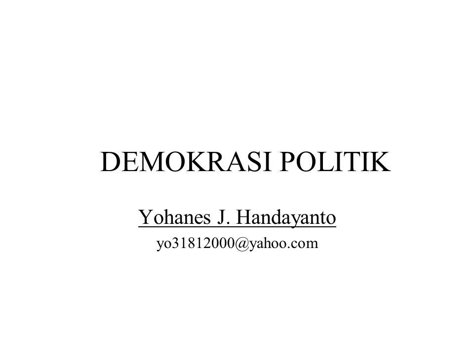 Yohanes J. Handayanto yo31812000@yahoo.com