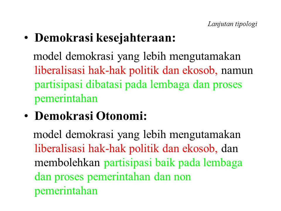 Demokrasi kesejahteraan: