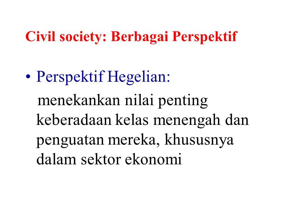 Civil society: Berbagai Perspektif