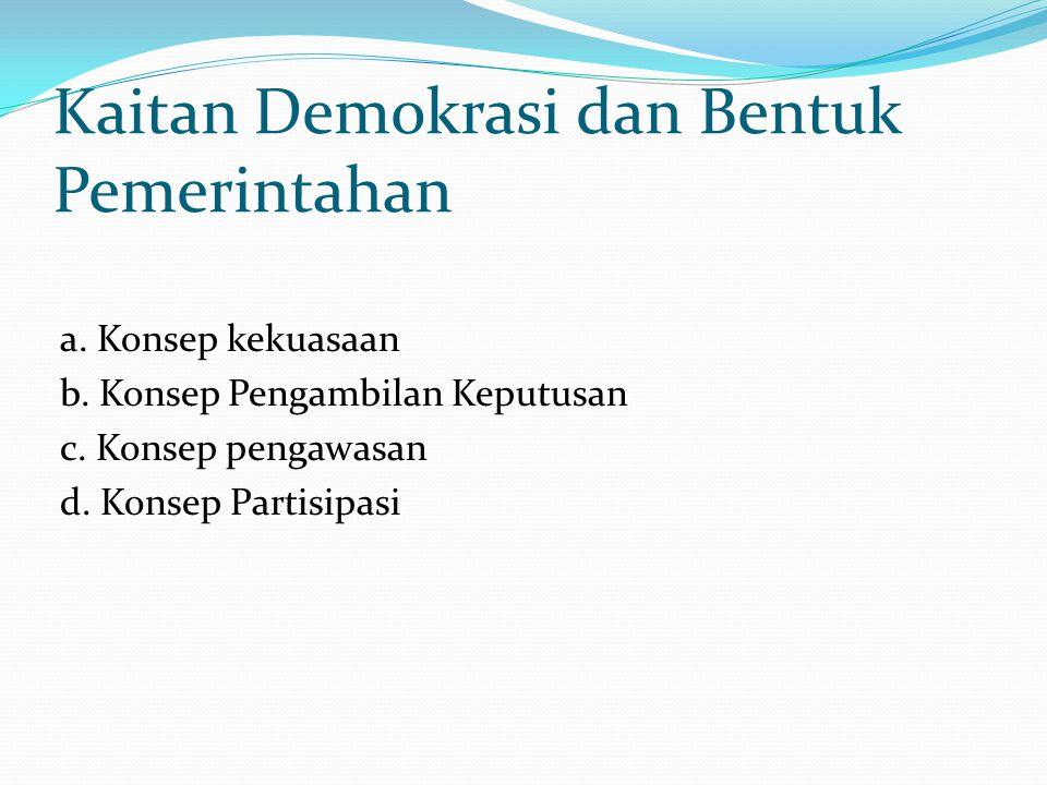 Kaitan Demokrasi dan Bentuk Pemerintahan