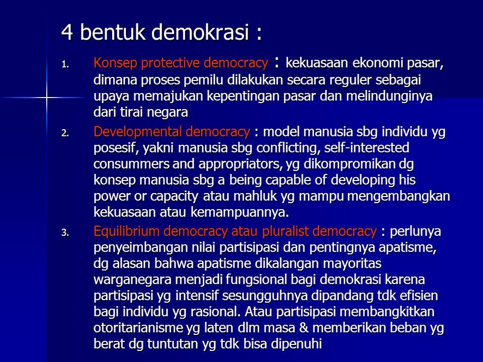 4 bentuk demokrasi :