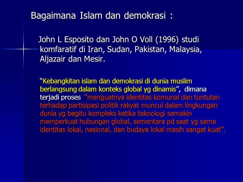 Bagaimana Islam dan demokrasi :