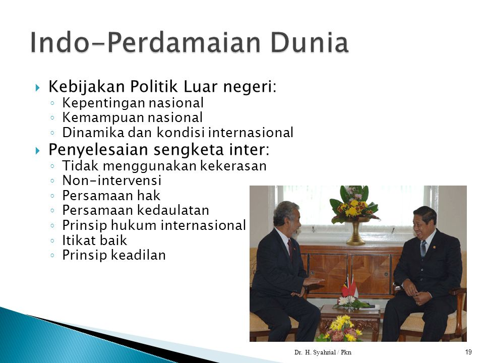 Indo-Perdamaian Dunia