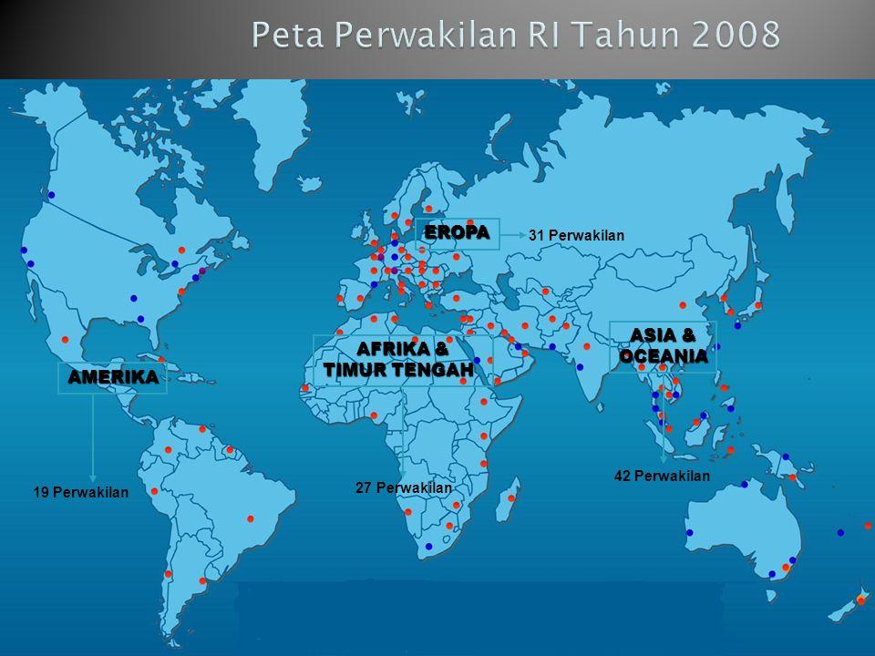 Peta Perwakilan RI Tahun 2008