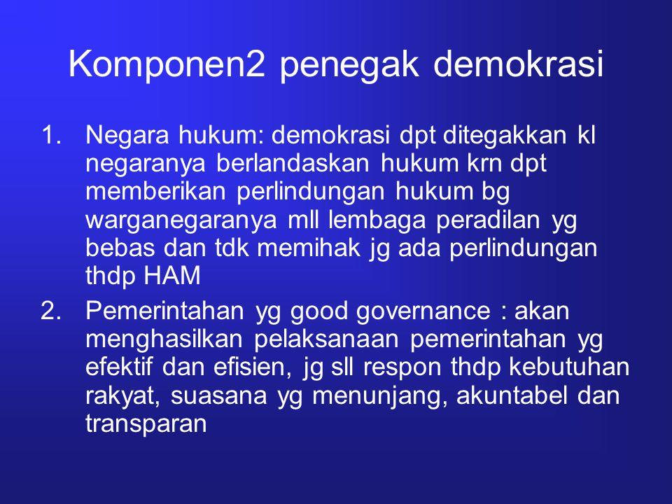 Komponen2 penegak demokrasi