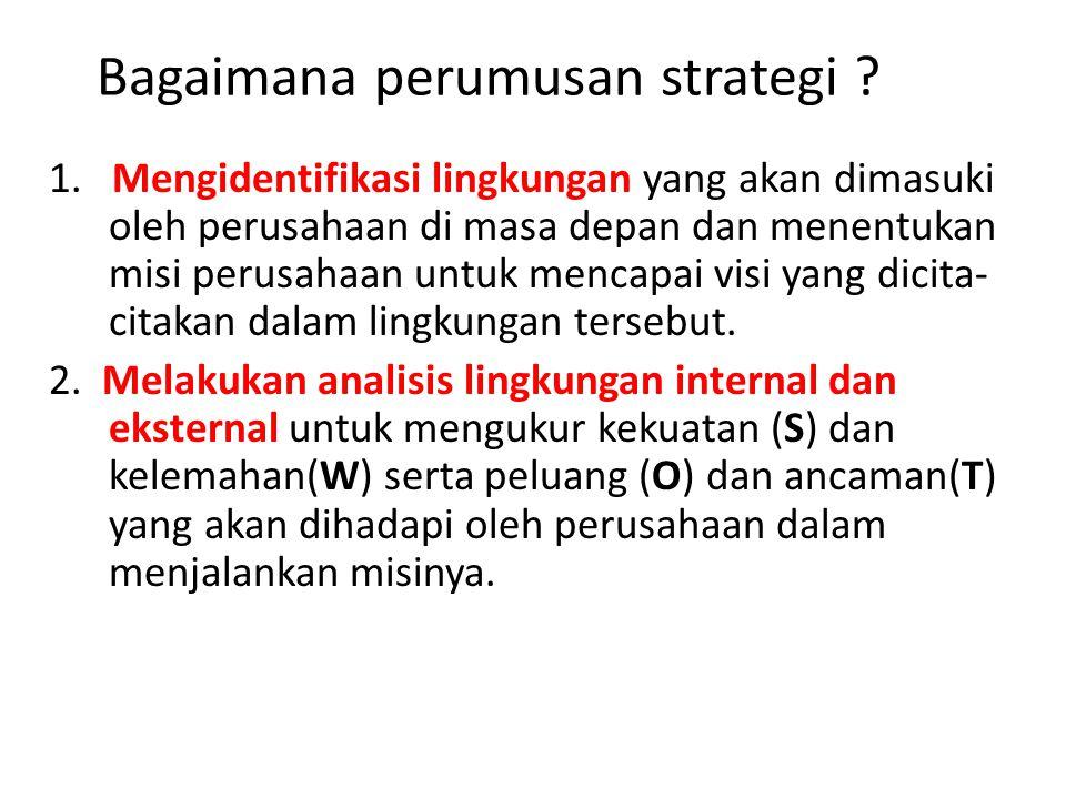 Bagaimana perumusan strategi