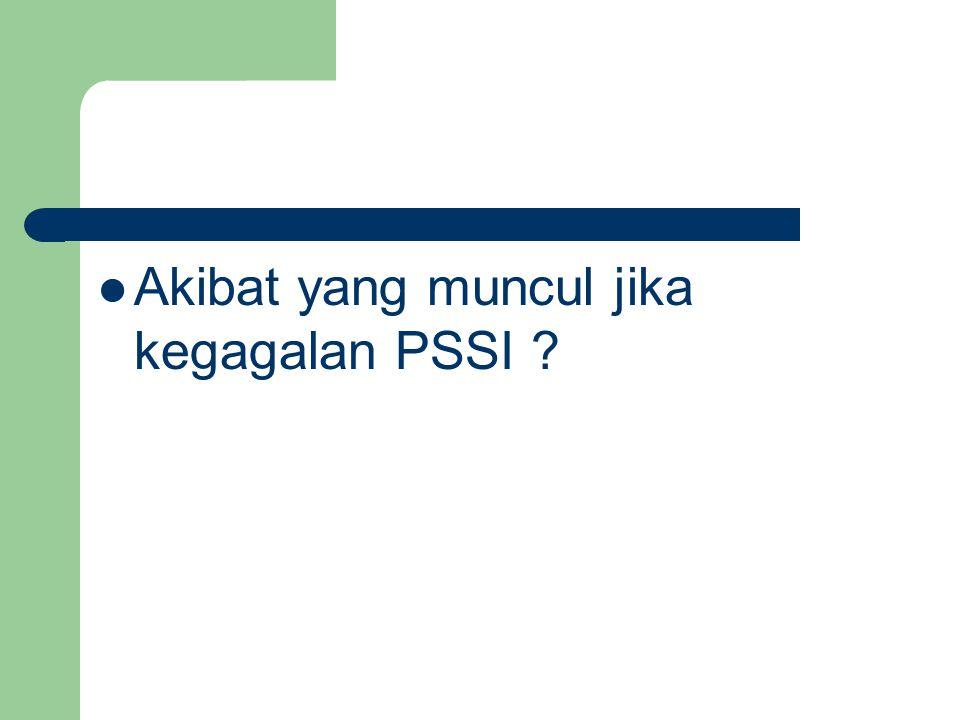 Akibat yang muncul jika kegagalan PSSI