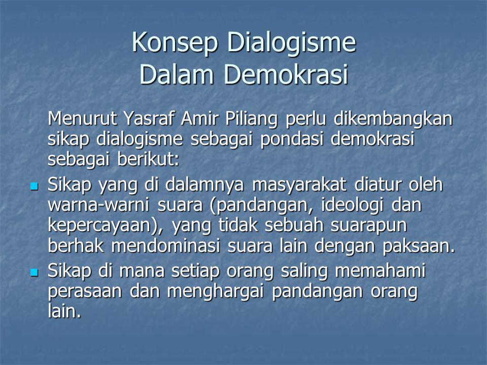 Konsep Dialogisme Dalam Demokrasi