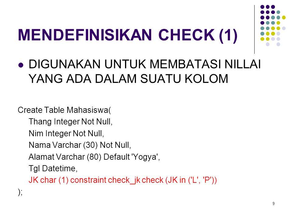 MENDEFINISIKAN CHECK (1)