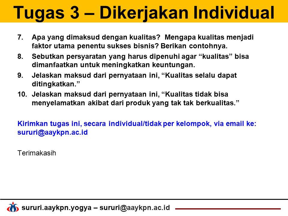 Tugas 3 – Dikerjakan Individual