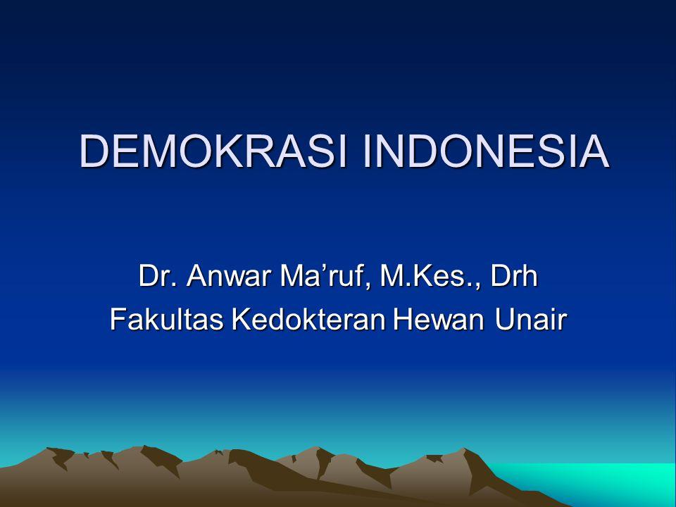 Dr. Anwar Ma'ruf, M.Kes., Drh Fakultas Kedokteran Hewan Unair