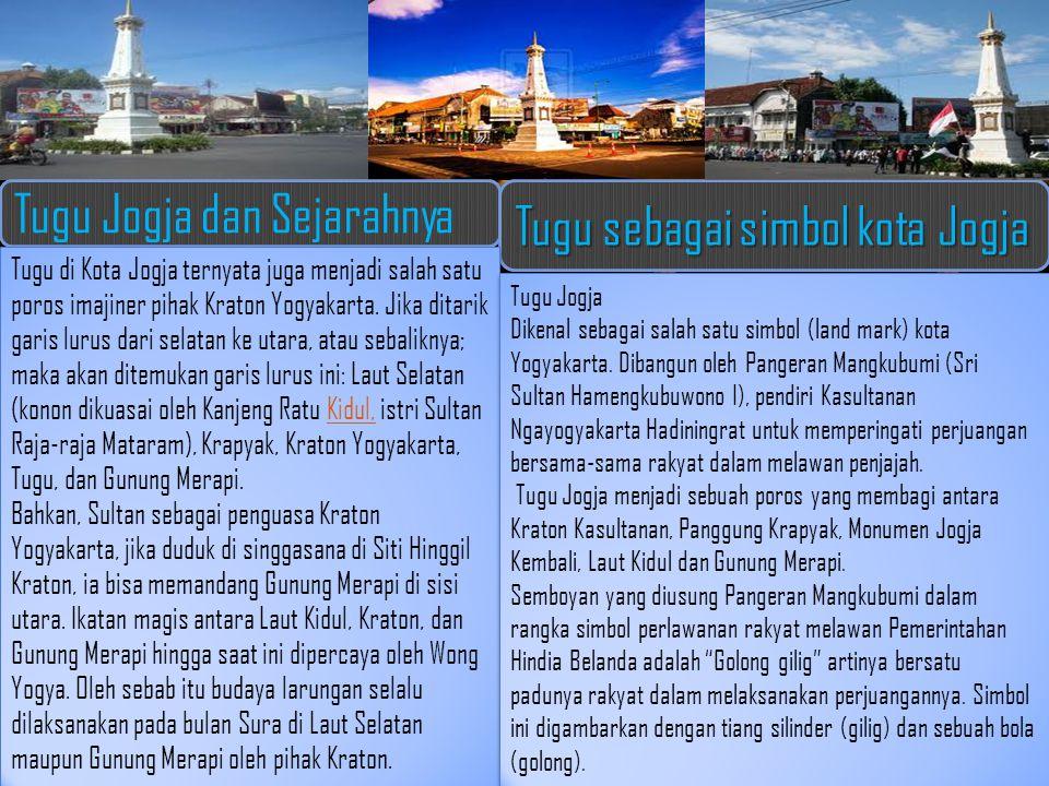 Tugu Jogja dan Sejarahnya Tugu sebagai simbol kota Jogja