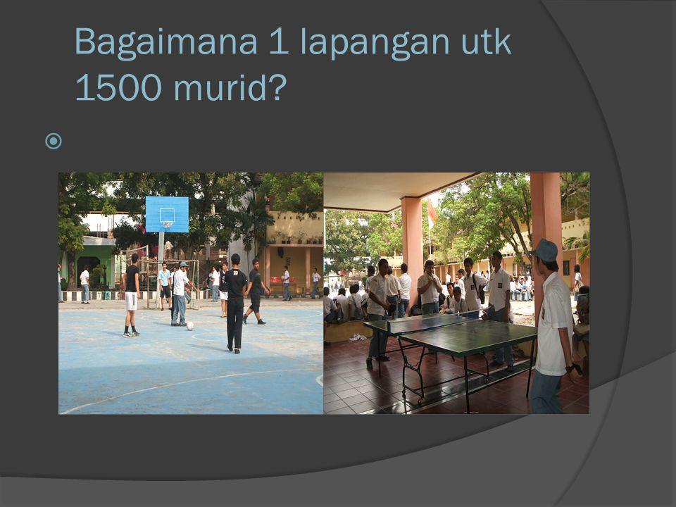 Bagaimana 1 lapangan utk 1500 murid