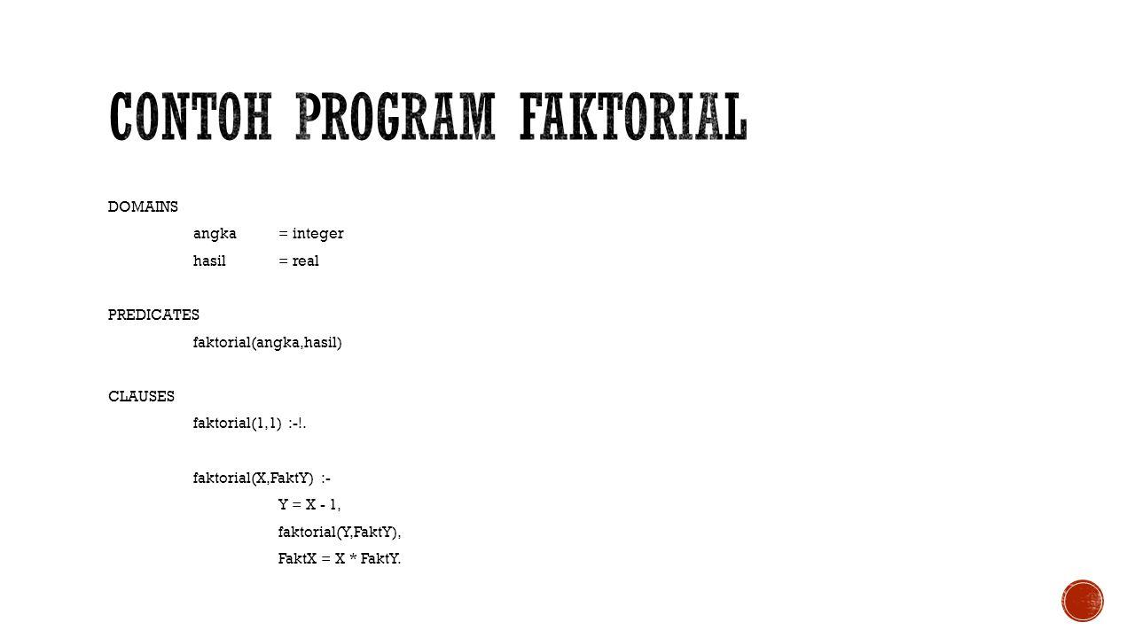 Contoh program faktorial