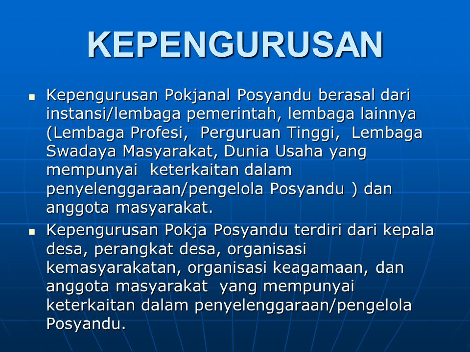 KEPENGURUSAN