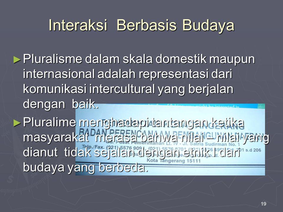 Interaksi Berbasis Budaya