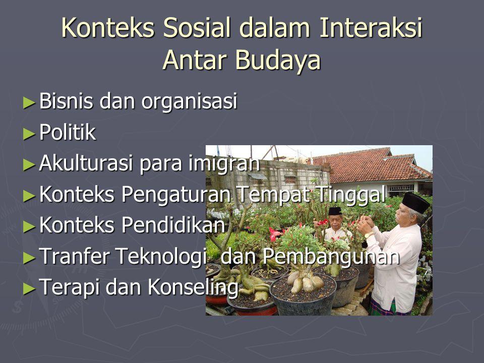 Konteks Sosial dalam Interaksi Antar Budaya
