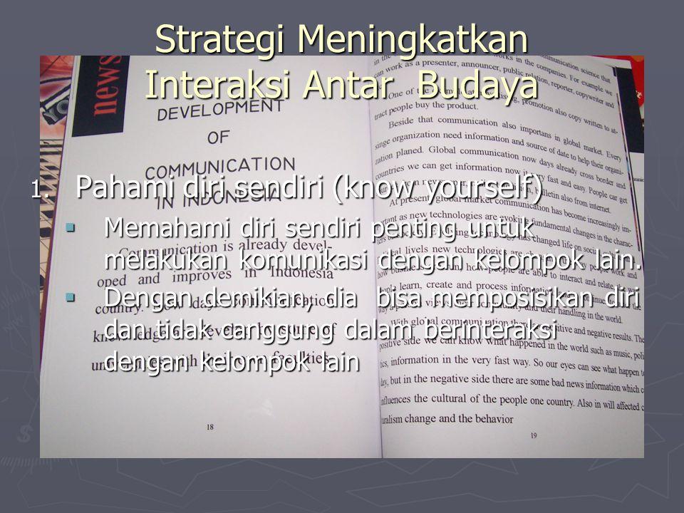 Strategi Meningkatkan Interaksi Antar Budaya