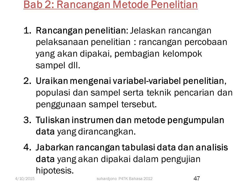 Bab 2: Rancangan Metode Penelitian