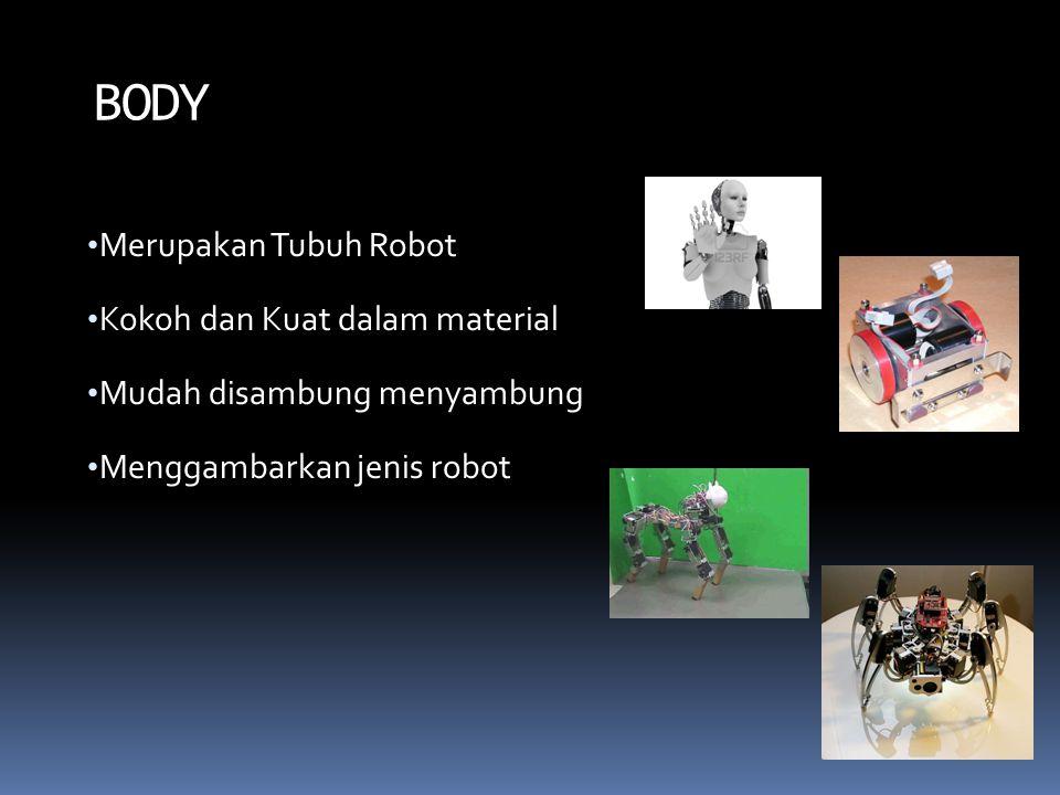 BODY Merupakan Tubuh Robot Kokoh dan Kuat dalam material