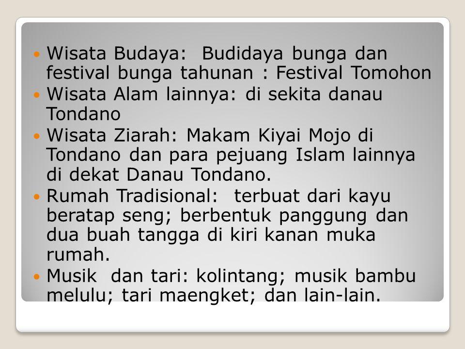 Wisata Budaya: Budidaya bunga dan festival bunga tahunan : Festival Tomohon