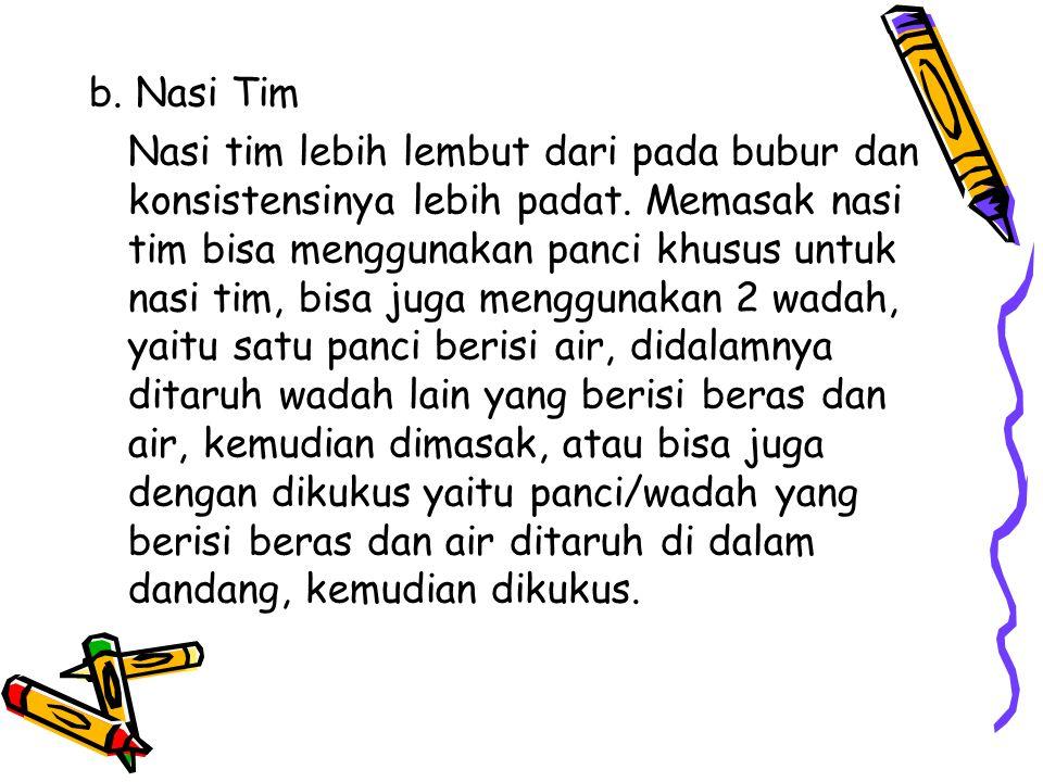 b. Nasi Tim