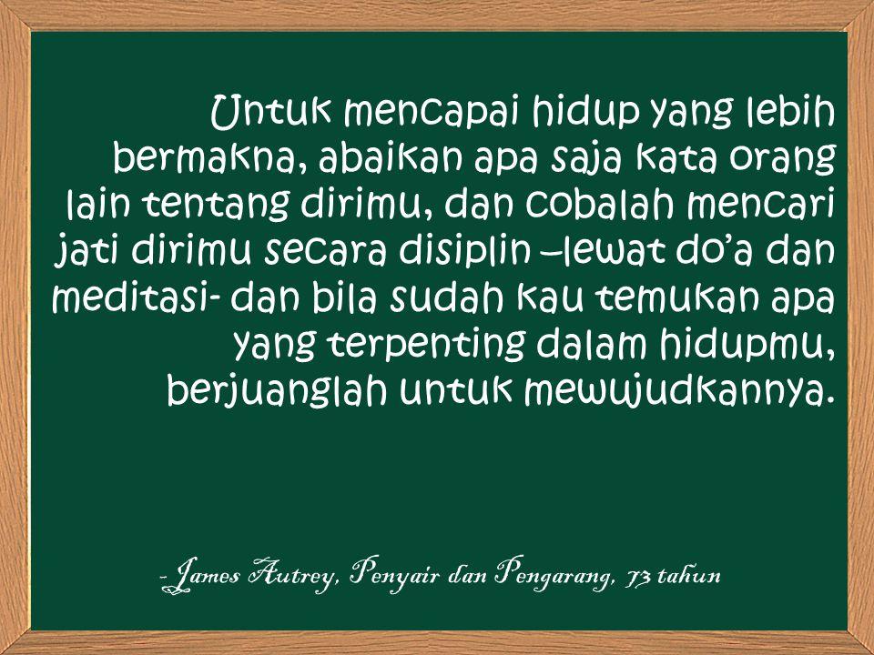 -James Autrey, Penyair dan Pengarang, 73 tahun