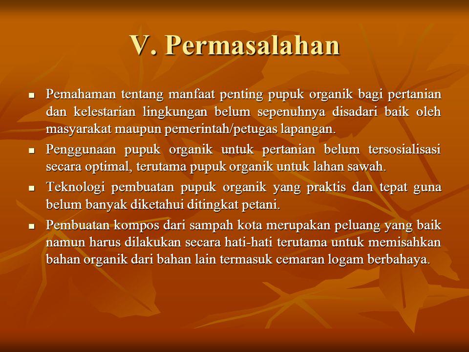 V. Permasalahan