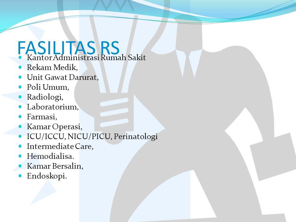 FASILITAS RS Kantor Administrasi Rumah Sakit Rekam Medik,