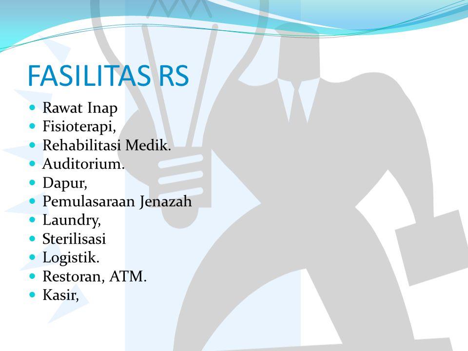 FASILITAS RS Rawat Inap Fisioterapi, Rehabilitasi Medik. Auditorium.
