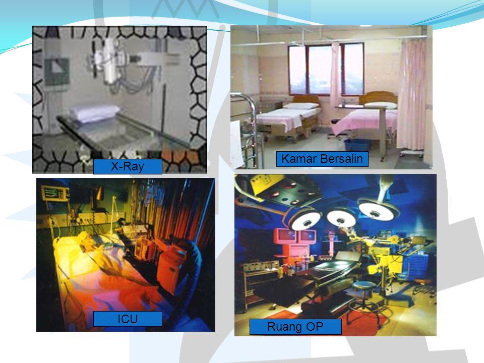 Kamar Bersalin X-Ray ICU Ruang OP