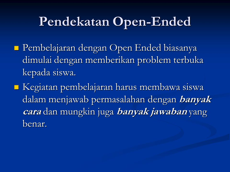 Pendekatan Open-Ended