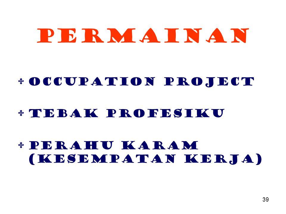 Permainan Occupation Project Tebak Profesiku